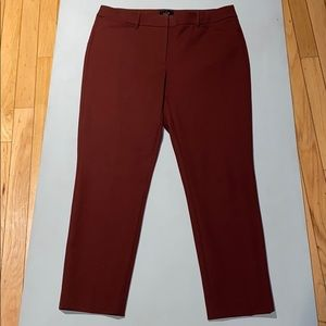 Woman's The slim Ankle Dark Red/Brown Dress Pant